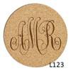 Bronson Monogram Cork Coaster Set-8 Fonts