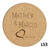True Love Cork Coaster Set - 10 Fonts