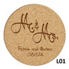 Mr.& Mrs Cork Coaster Set - 5 Fonts