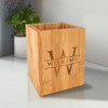 Personalized Bamboo Utensil Holder