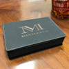 Black  Vegan Leather Flask Gift Set