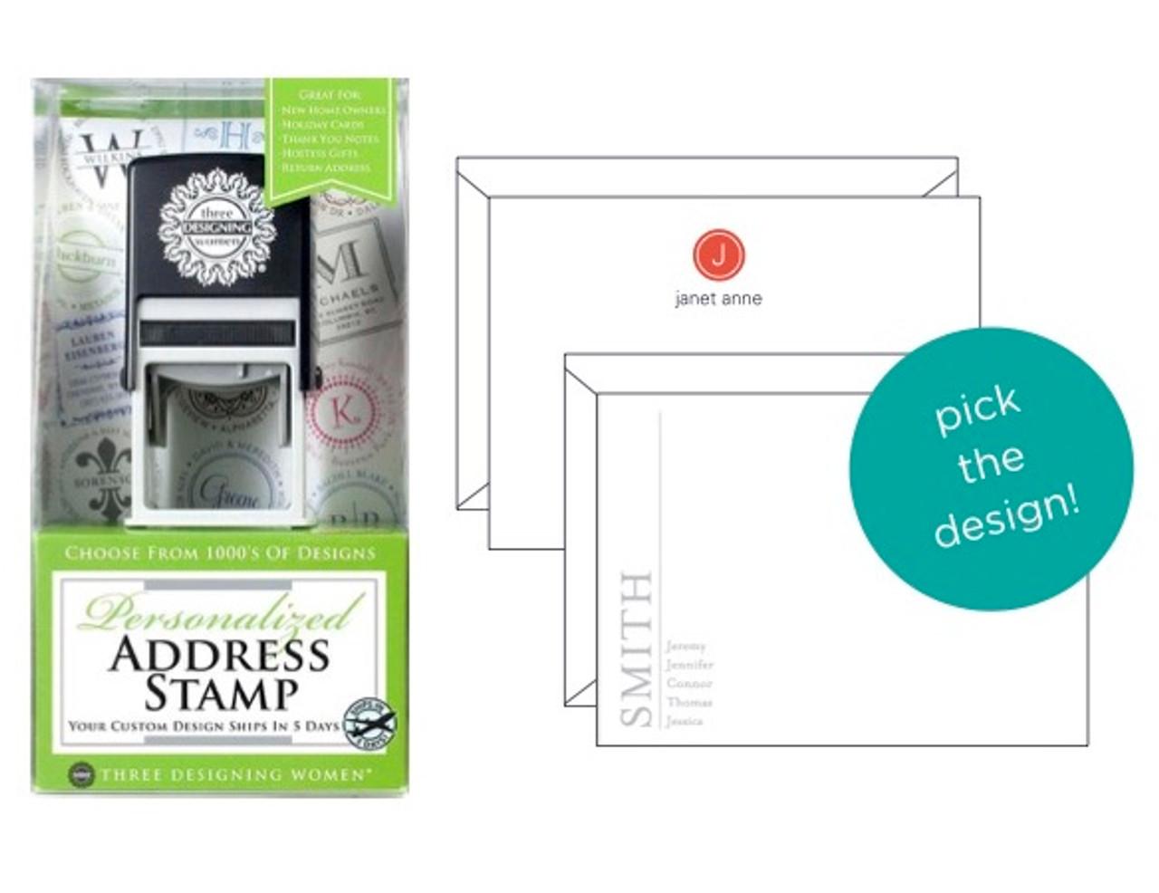 Address Stamp And Stationery Set