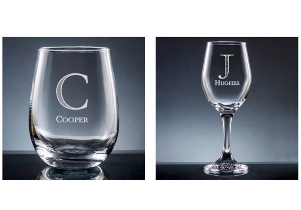 7f6abd44565 Custom Wine Glass Set - Noteworthy Notes