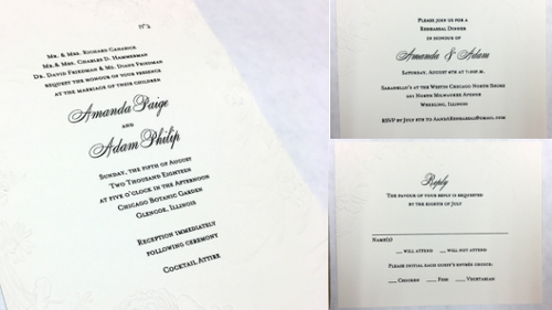 Amanda and Adam's Wedding Invitation