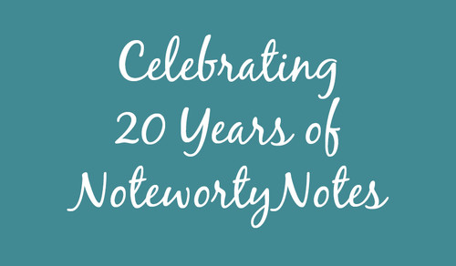 Celebrating 20 Years of NoteworthyNotes