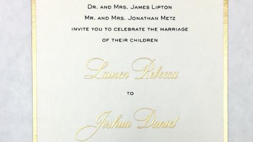 Lauren and Joshua's Wedding Invitation