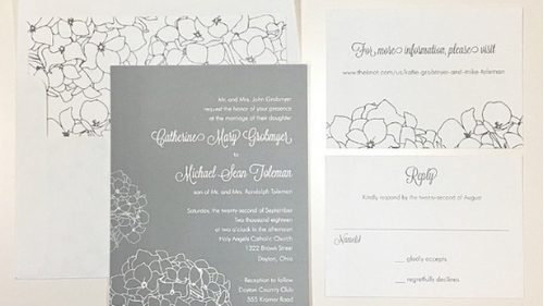 Katie & Mike's Wedding Invitation