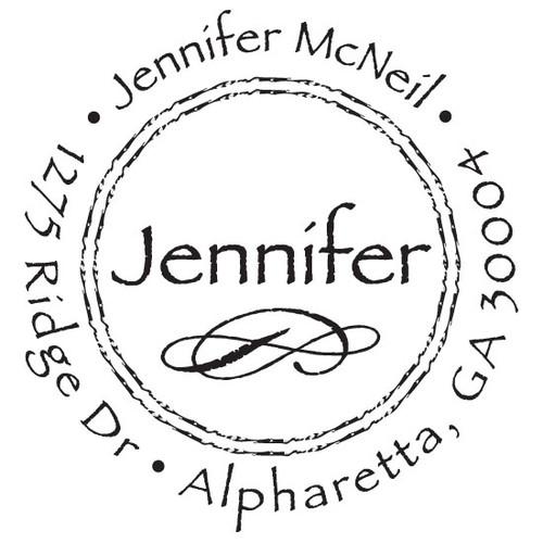 Name and Motif Self Inking Stamp