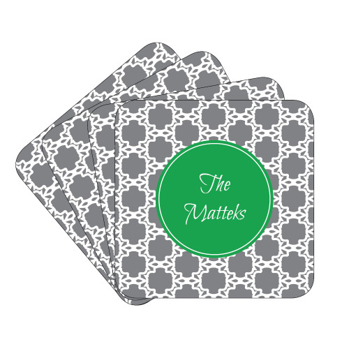 Eyelit Lace Coaster Set