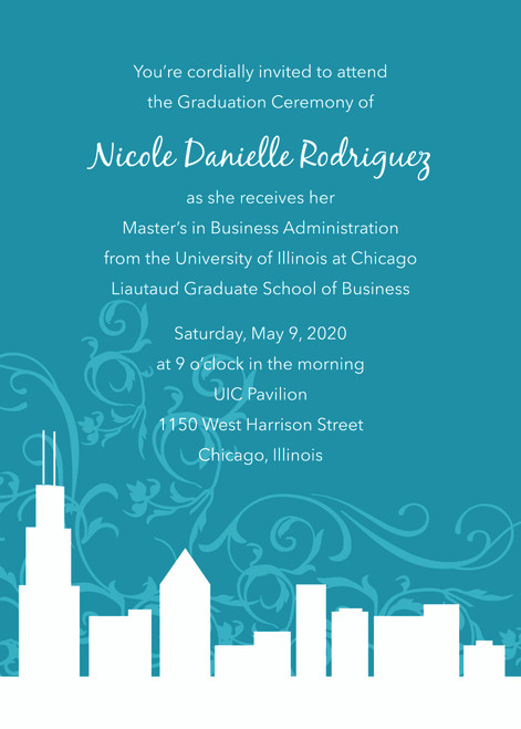 Swirling Skyline Invitation