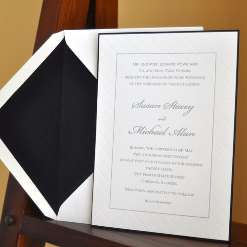 Susan And Michael: Wedding Invitation