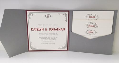 Katy and Jon: Wedding Invitations