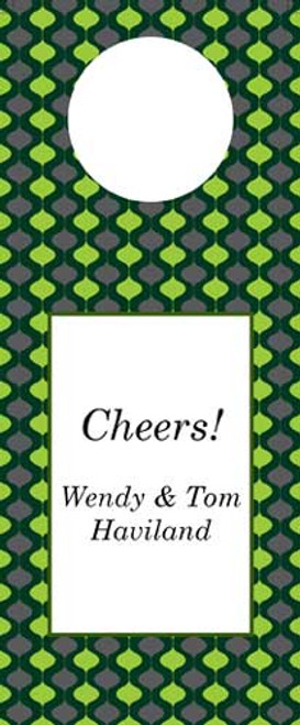 Ornamental Green Wine Tag