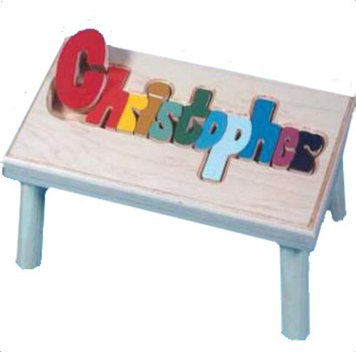 Puzzle Name Step Stool - Long Name