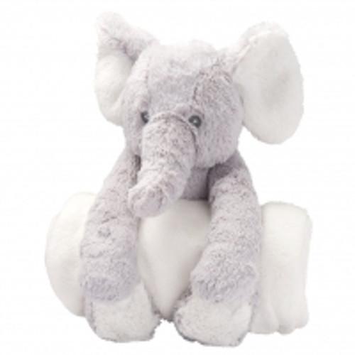 Huggy Elephant and Blanket Set