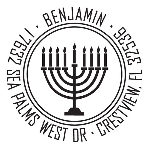 Menorah Self Inking Stamp