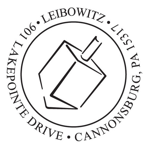 Dreidel  Self Inking Stamp