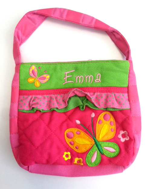 Pink Butterfly Quilted Purse