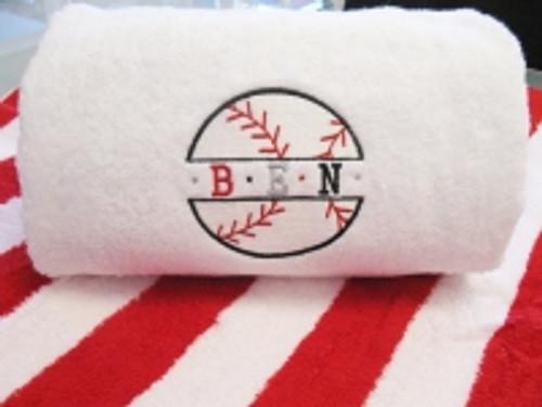 Baseball Bath Towel