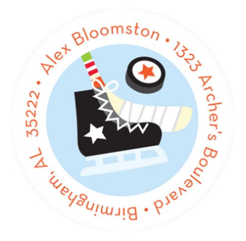 Hockey Star Address Label