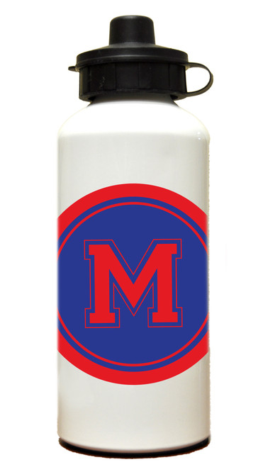 Water Bottle Solid Circle with Initial