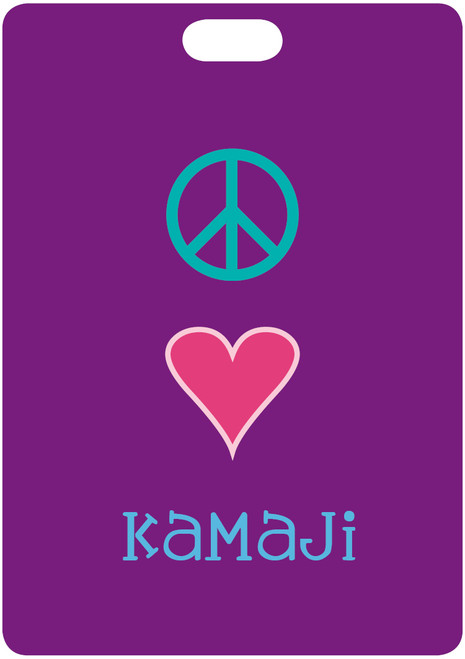 Peace Love Camp Bag Tags