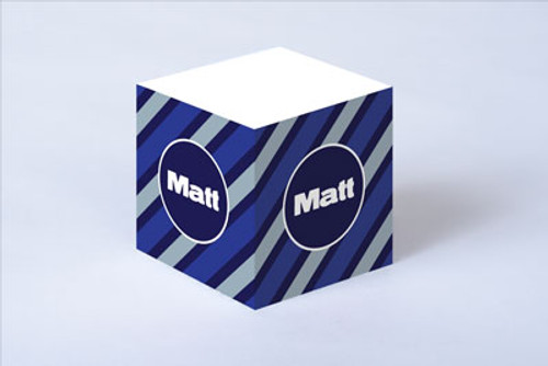 Blue Tie Stripe Sticky Note Cube