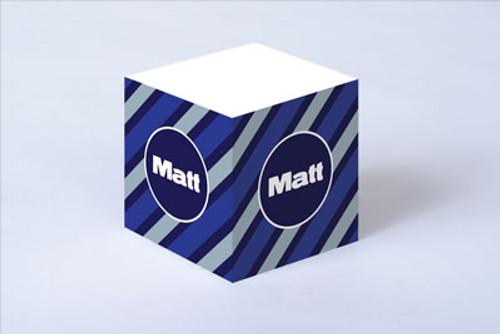 Blue Tie Stripe Sticky Note Cube