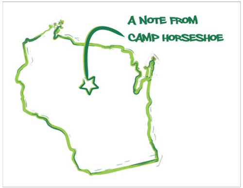 Camp Map Folded Note