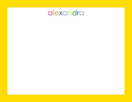 Alexandra Bordered Flat Note
