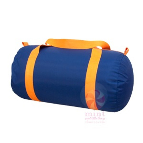 Navy and Orange Duffel Bag