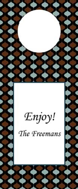 Ornamental Brown Wine Tag