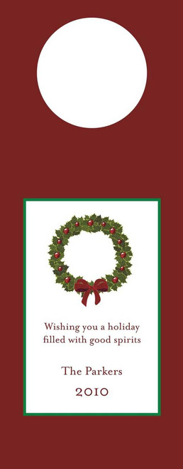 Wreath Wine Tag
