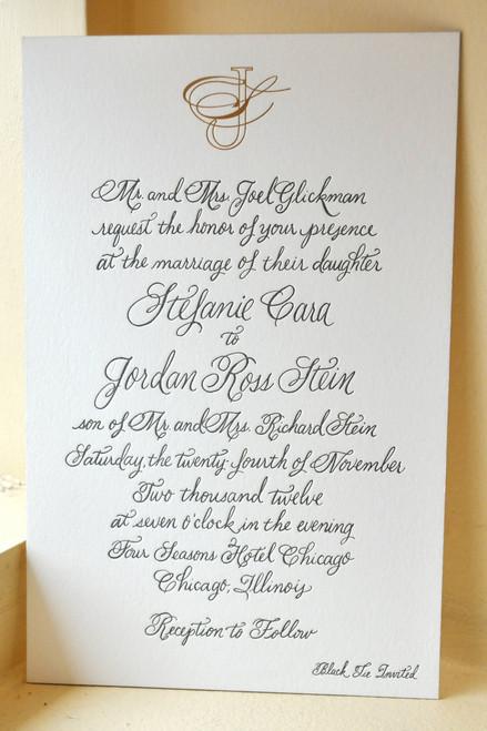 Stefanie and Jordan: Wedding Invitation
