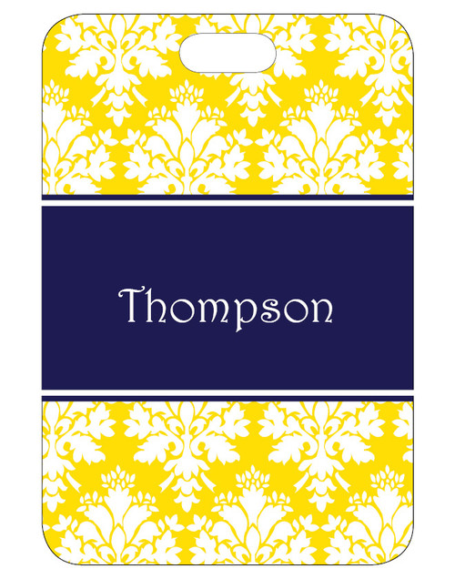 Damask Bag Tag