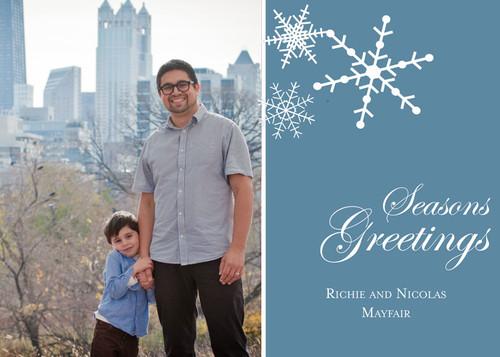 Snowflake Flat Holiday Card