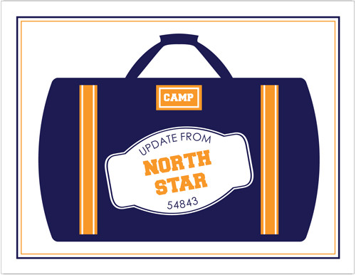 Navy Camp Luggage Folded Note