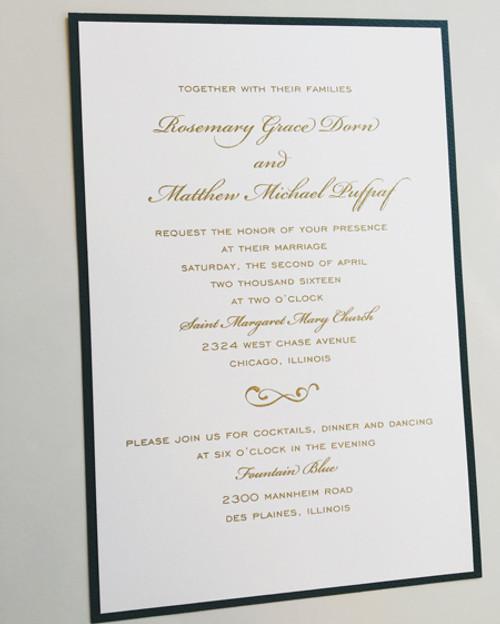 Rosemary and Chad: Wedding Invitation