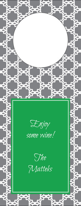 Eyelit Lace Wine Tag