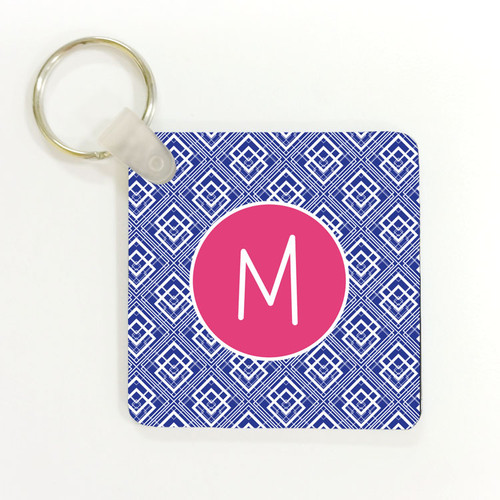 Art Deco Square Keychain