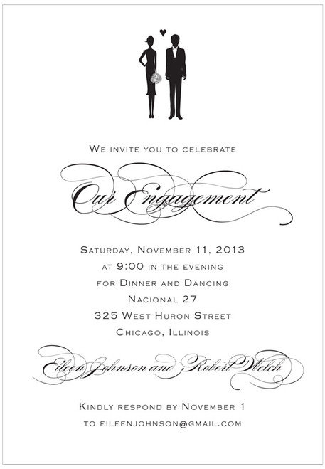 Mr and Mrs Party Invitation
