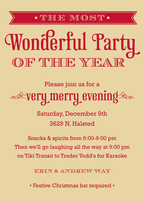 The Most Wonderful Party Invitation