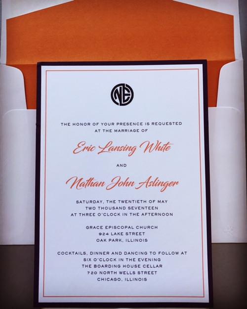 Eric and Nate: Wedding Invitation