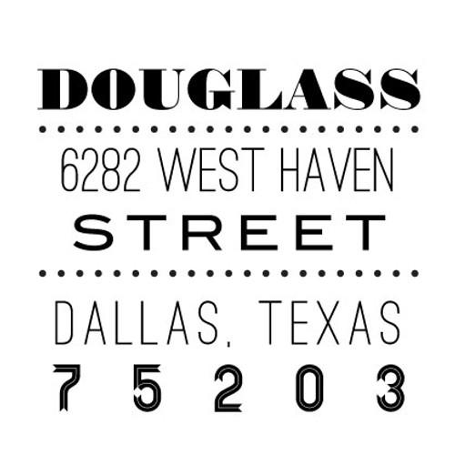 Douglass Self Inking Stamp