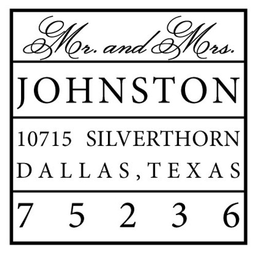 Johnston Self Inking Stamp
