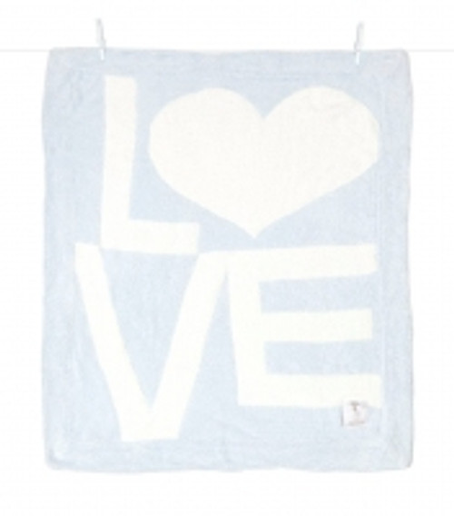 Blue LOVE Blanket