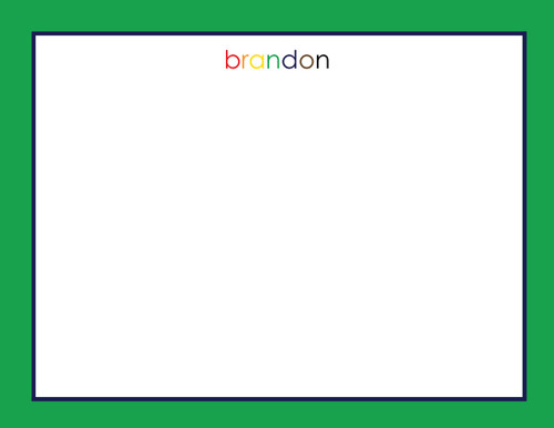Brandon Bordered Flat Note