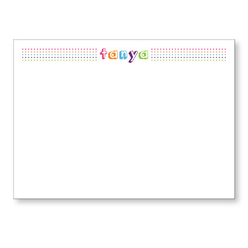 Rainbow Dots Flat Note