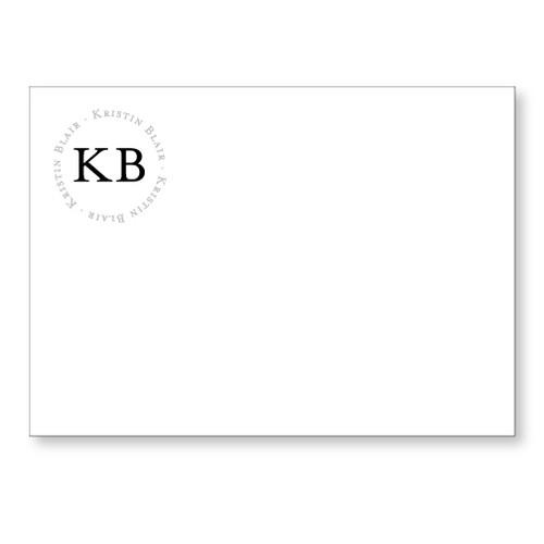 Kristin Flat Note black and slate