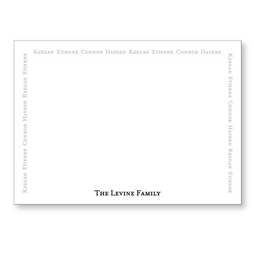Levine Flat Note black and slate
